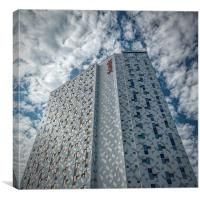 Trondheim Scandic Hotel Tower Block, Canvas Print