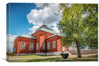Karlskrona Admiralty Wooden Church, Canvas Print