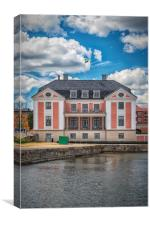 Karlskrona County Governors Building Port Facade, Canvas Print