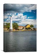 Karlskrona Stumholmen Lighthouse From Opposite Sid, Canvas Print