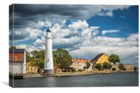 Karlskrona Stumholmen Lighthouse Landscape, Canvas Print