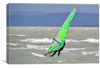 Windsurfing Lake Balaton, Canvas Print