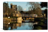 St Cyr Church On The Stroud Water Canal, Canvas Print