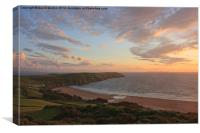 Evening Sky Over Baggy Point, Canvas Print