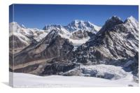 Mount Everest from High Camp on Mera Peak, Canvas Print