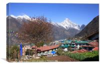 Lukla with Nupla in the background, Canvas Print