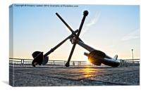 Anchored Over The Mersey, Canvas Print