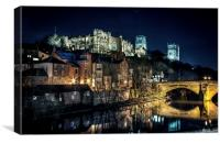 Durham Riverside Castle and Cathedral, Canvas Print