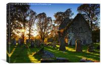 Kilmorie Chapel and kirkyard in Strathlachlan , Canvas Print
