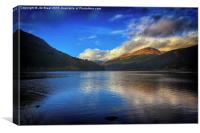 Jubilee Viewpoint in Argyll , Canvas Print