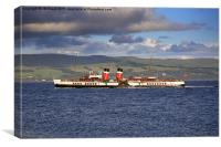 PS Waverley on the Clyde, Canvas Print