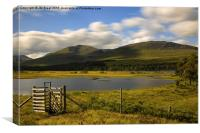 Loch Tulla and Black Mount , Canvas Print