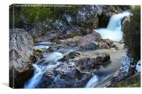 River Coupall Waterfall , Canvas Print