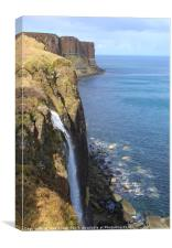 Kilt Rock and the Mealt Waterfall, Canvas Print