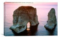 The Pigeon Rocks of Beirut, Canvas Print