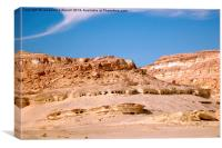 The Ancient Cemetery of Siwa, Canvas Print