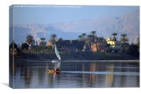 Life on the River Nile, Canvas Print