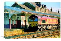 Freight Train at Hellifield, Canvas Print