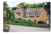 Cottages at Stanway, Canvas Print