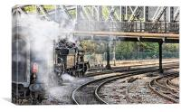 Double Header at Bristol Temple Meads, Canvas Print
