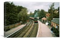 Train Arriving at Pickering Station, Canvas Print