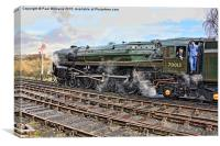 "70013 ""Oliver Cromwell"", Canvas Print"