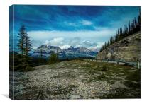 Trans-Canada Highway Rocky Mountains, Canvas Print