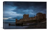 Carrickfergus Castle Nightfall N.Ireland, Canvas Print