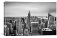 New York Classic Skyline Black and White , Canvas Print