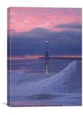 Lighthouse in the Pink, Canvas Print