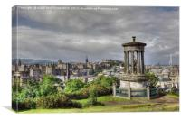 Calton Hill, Edinburgh, Scotland, Canvas Print