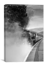 The Jacobite Steam Train, Fort William, Scotland, Canvas Print