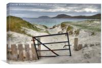 Vatersay Bay, Isle of Barra, Scotland., Canvas Print