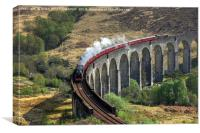 The Jacobite Steam Train, Glenfinnan Viaduct., Canvas Print