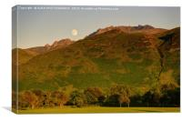 The Sleeping Warrior, Isle of Arran, Scotland, Canvas Print