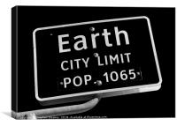 Welcome to Earth, Canvas Print