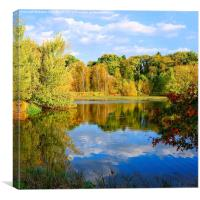 Autumn on the Lakeshores, Canvas Print