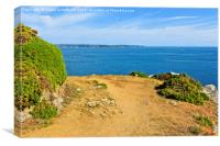 Cliff Path on the Channel Island of Herm, Canvas Print