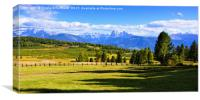 Panorama View Seen From the Villanderer Alm, Canvas Print