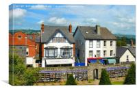 The Book Town Hay-on-Wye, Canvas Print