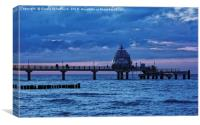 The Pier of Zingst During Blue Hour, Canvas Print