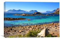 A Bright Summer Day in the Lofoten Islands, Canvas Print