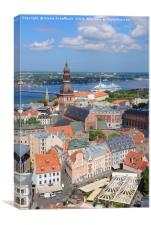 Riga in the Heart of the Baltic Region, Canvas Print