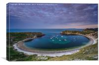 Lulworth cove at sunrise , Canvas Print