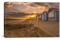 Sunset in Hamworthy Dorset , Canvas Print