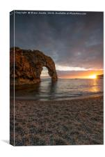 Durdle Door bathed by the sun , Canvas Print