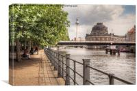 By the Spree, Canvas Print