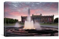 Altes Museum and Lustgarten, Berlin, Germany, Canvas Print
