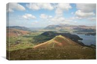 On top of Catbells, Canvas Print