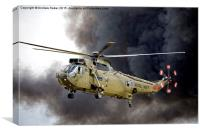 Royal Navy Westland Sea King HC Mk 4 ZA298, Canvas Print